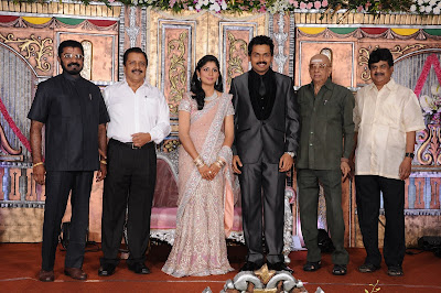 Karthi reception photo with Cho