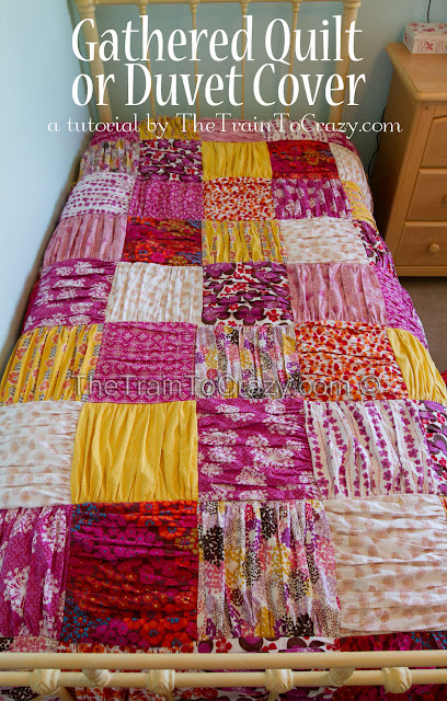 gathered quilt tutorial