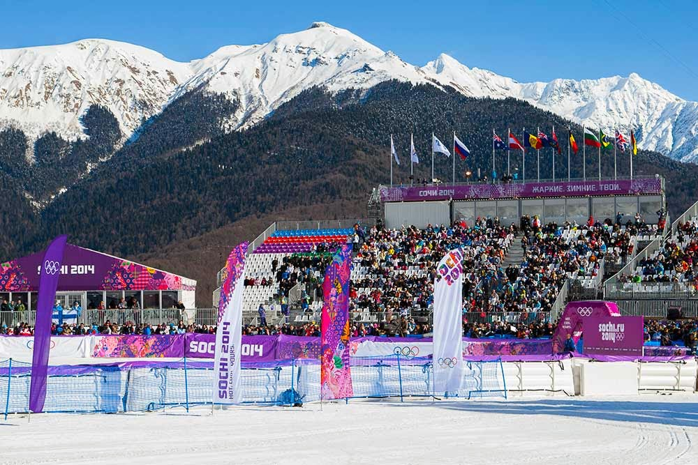 pretty view of mountains at the olympics