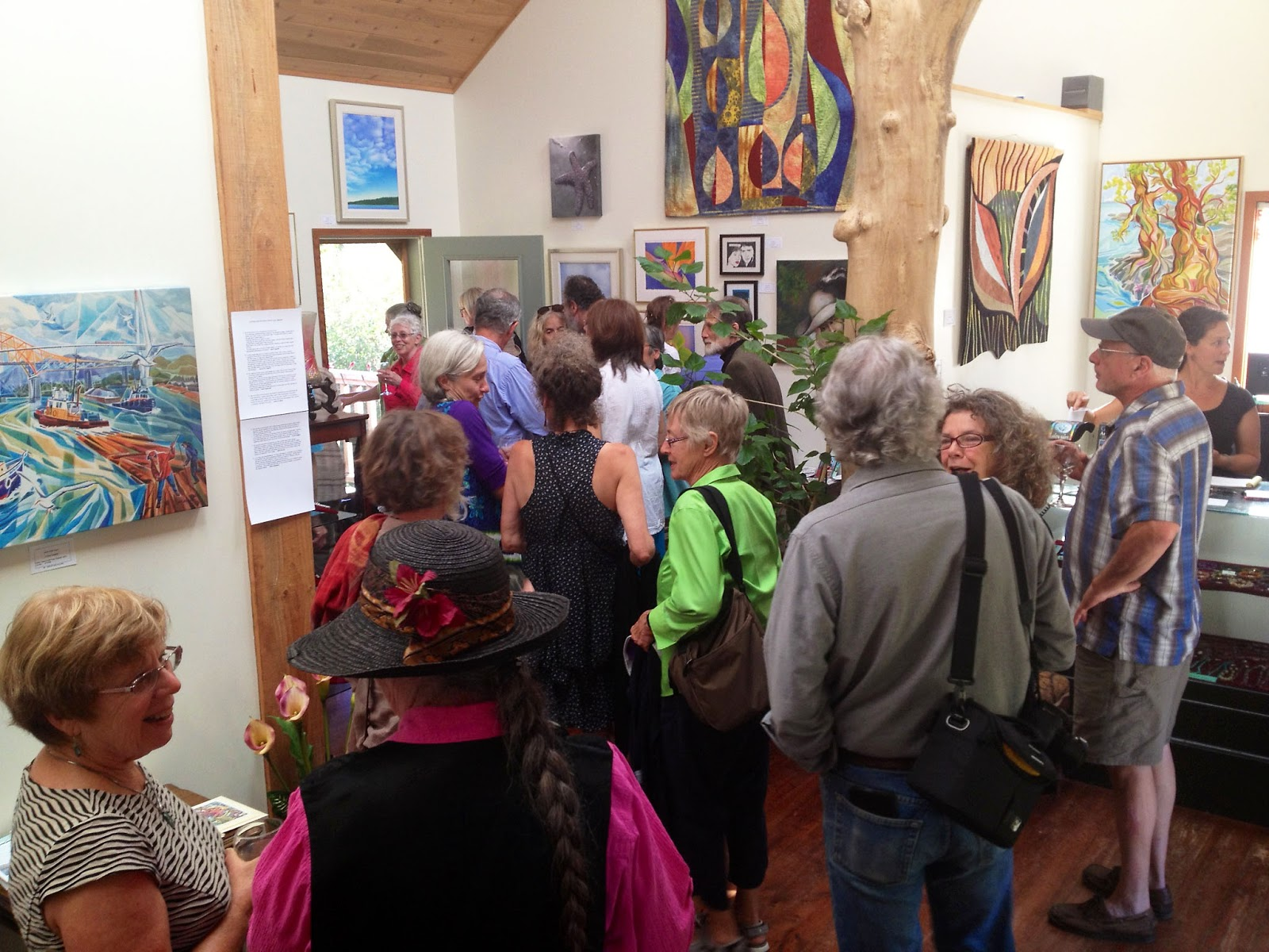 Saturna Art Show, opening reception, Insight Gallery, Galiano Island, BC