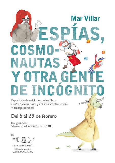 Mar Villar - Cartel para exposición individual en El Armadillo Ilustrado