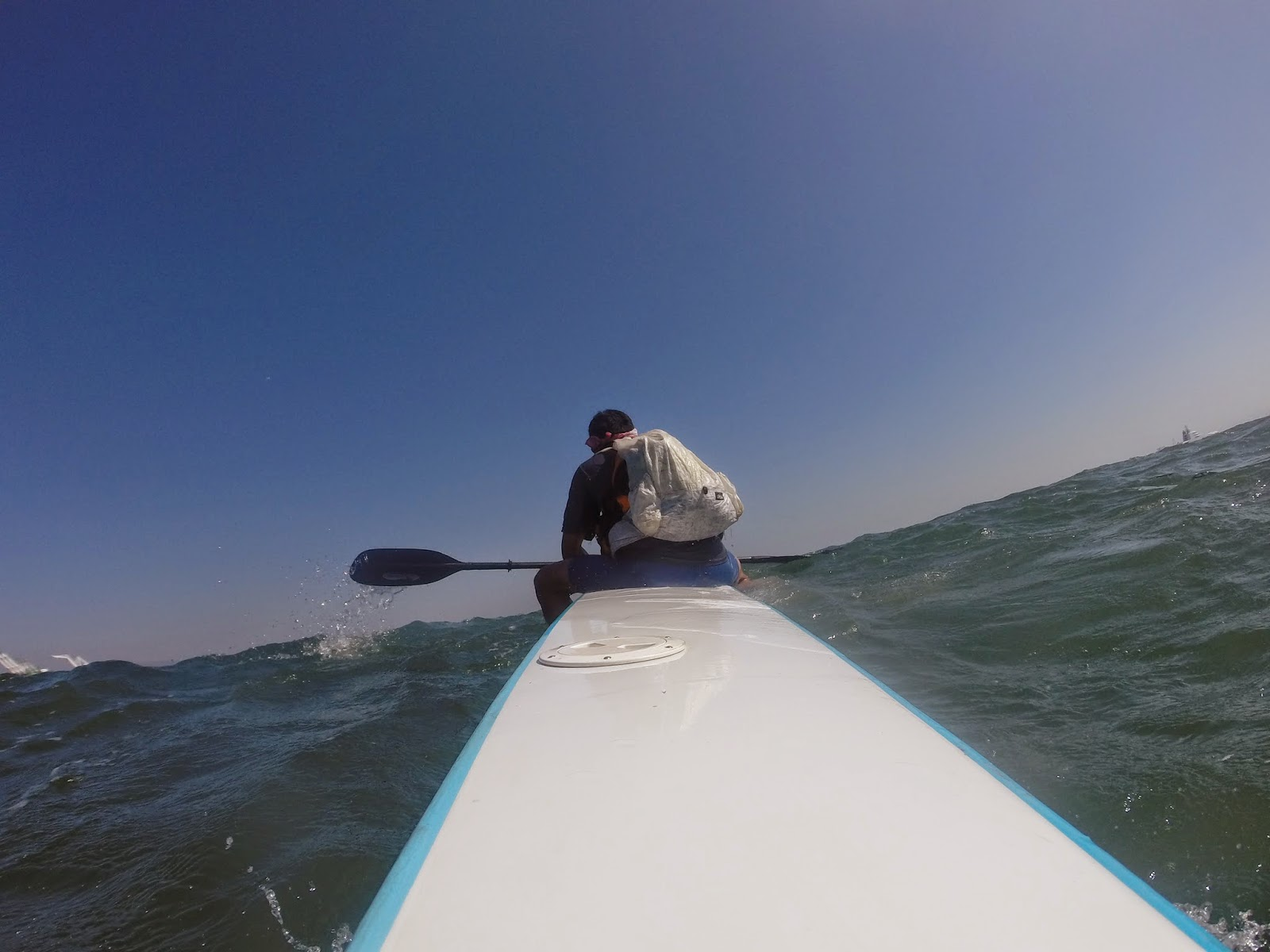 10 Seconds Later The Beauty Of A Surfski Is Quick And Easy Re Mount