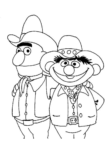 رجلين مضحكين في صورة لتلوين الاطفال