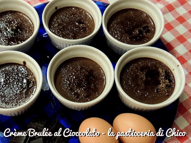 crème brûlée al cioccolato