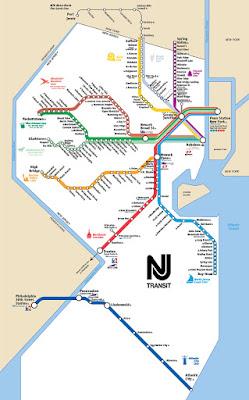 NJ Transit map