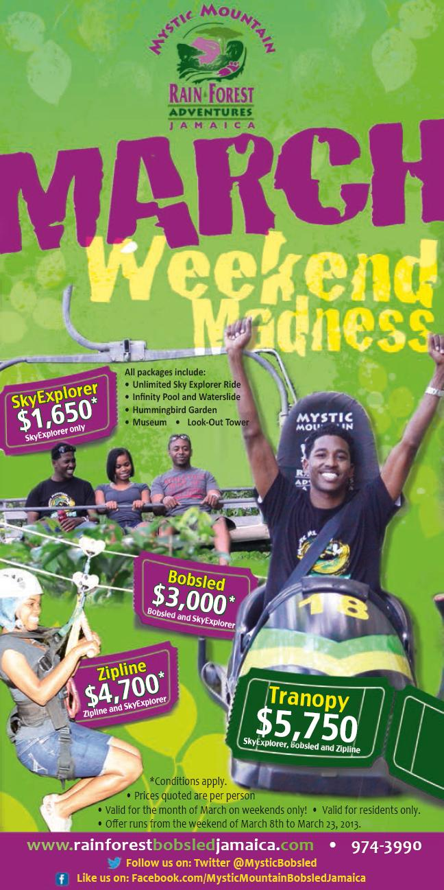 Mystic Mountain Jamaica - March Weekend Madness