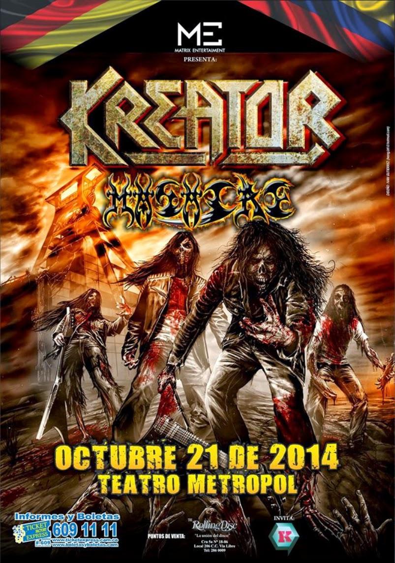 Poster Kreator 21 de Octubre 2014