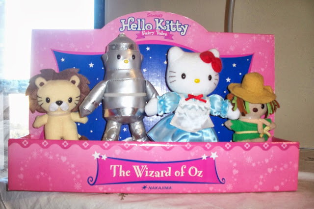 Hello Kitty, Hello Kitty plushies, Hello Kitty stuffed animals, Hello Kitty fairy tale, Hello Kitty fairy tale plushies, Hello Kitty Wizard of Oz, Wizard of Oz, Wizard of Oz merchandise, Dorothy, little girls toys