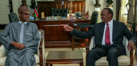 President Kenyatta holds Bilateral talk with President Buhari and the Nigerian delegation
