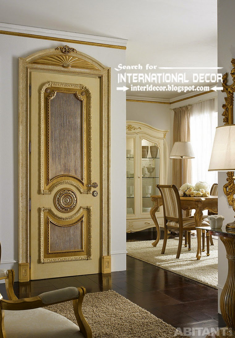 top designs of luxury interior doors for classic interior. Black Bedroom Furniture Sets. Home Design Ideas
