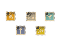 Vintage Social And Rss Icons Logo