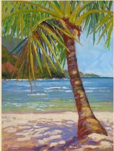 hanalei palm tree art
