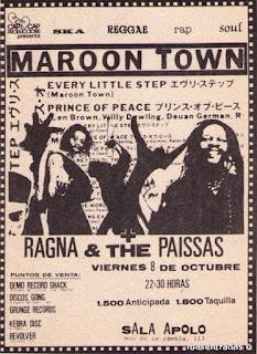 entrada de concierto de maroon town