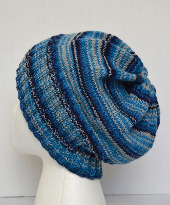 light weight unisex slouchy hat for sale at https://www.etsy.com/shop/JeannieGrayKnits