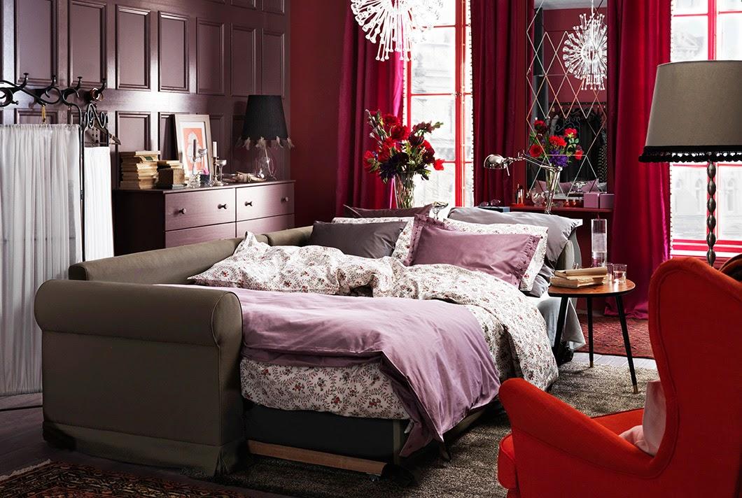 Conseils d co et relooking 20 chambres ikea avec un for Salon qui se transforme en chambre
