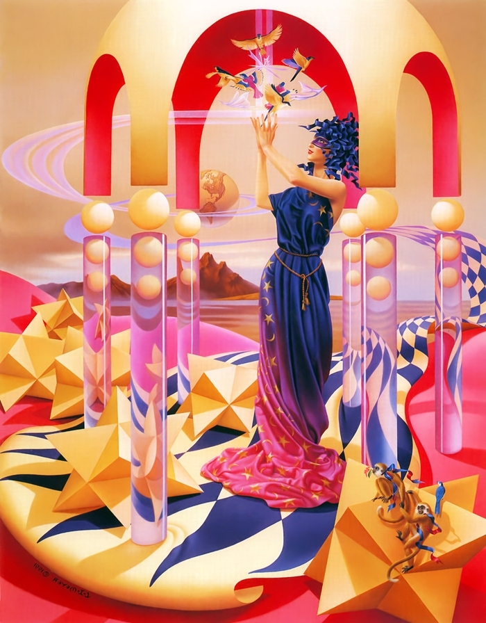 Ilene Meyer 1940-2009 | American Fantastic Surrealist painter