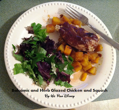 Healthy Meals (002): Balsamic and Herb Glazed Chicken and Squash