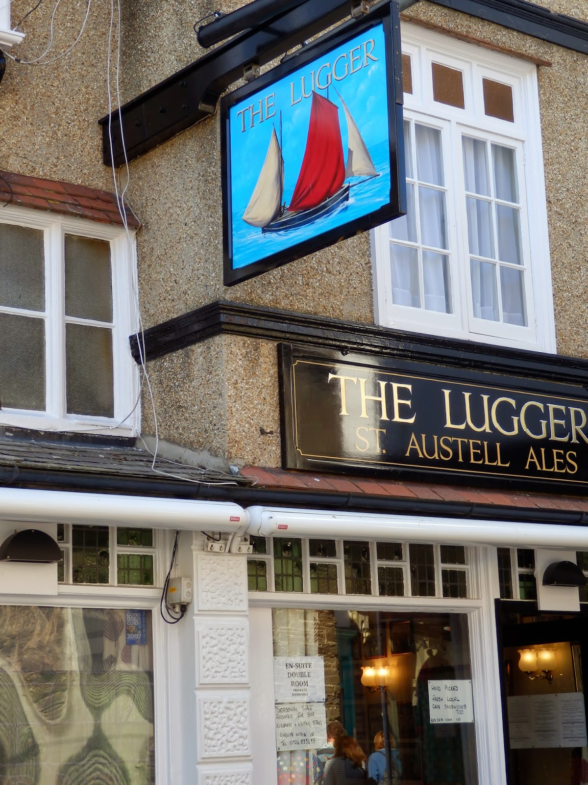 The Lugger pub, Fowey Cornwall