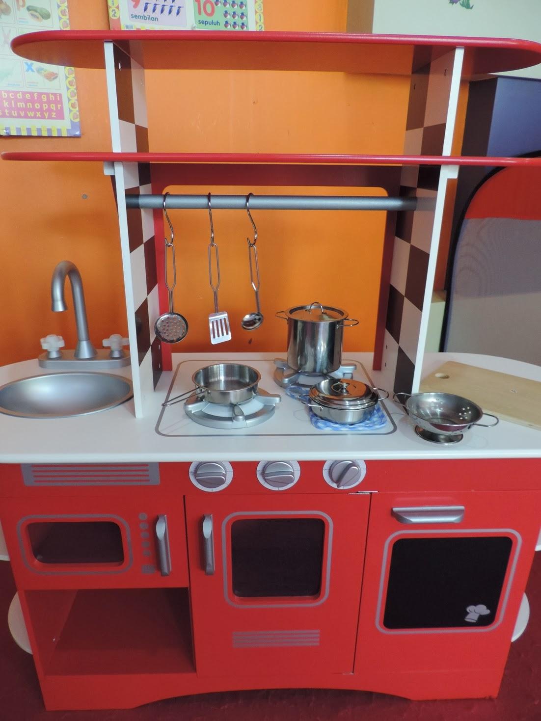 Elc Wooden Diner Kitchen Toybox Rental Sewa Mainan Dan