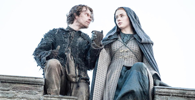 Theon and Sansa Jump