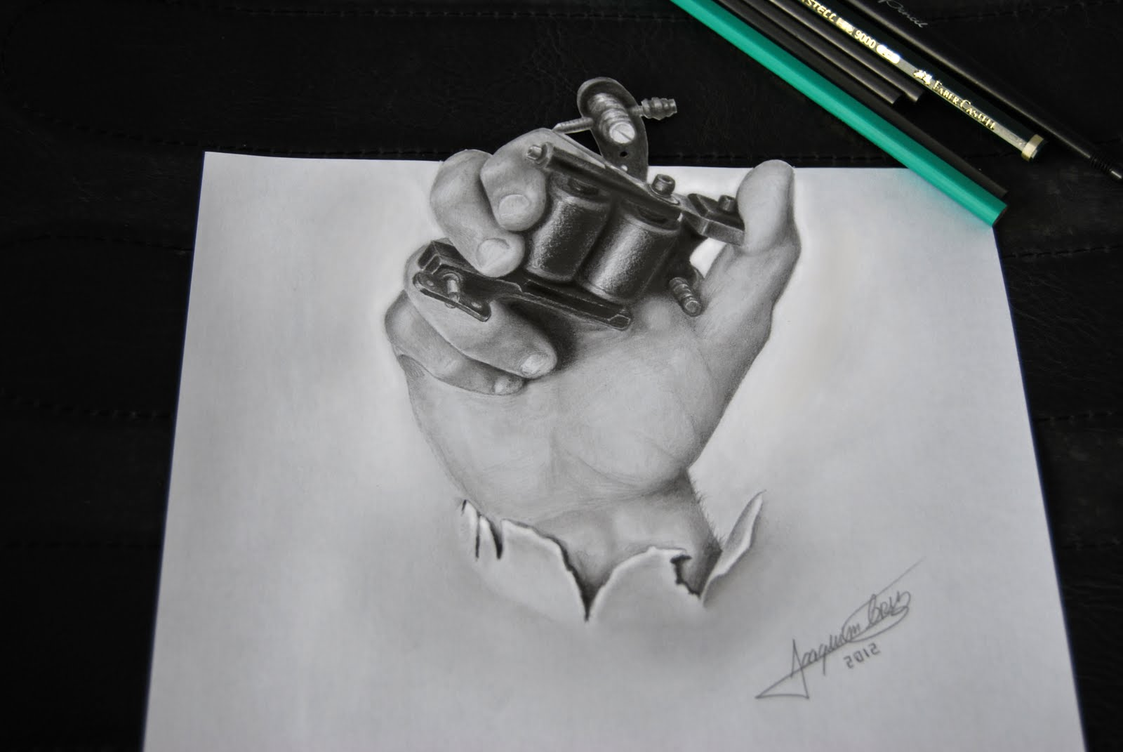 Realistic 3D Draw by Joaquim Cruz Tattoo Power
