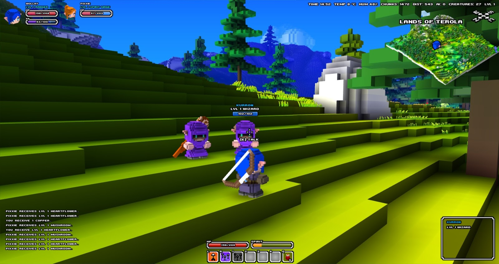 Wollays blog new cube world screenshots heres a group of nice npc wizards gumiabroncs Gallery
