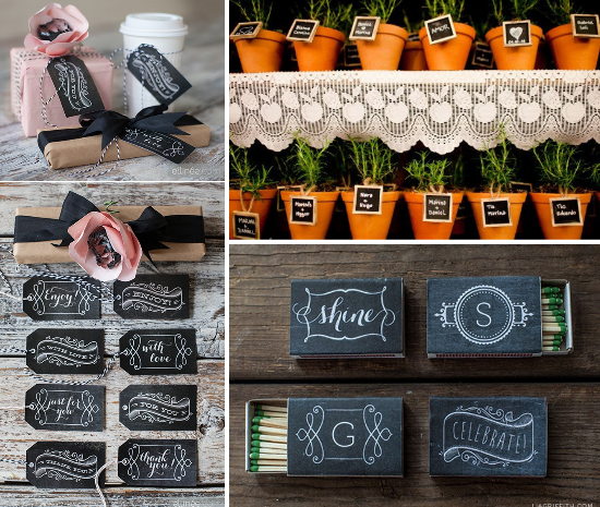 Wedding favors chalkboards