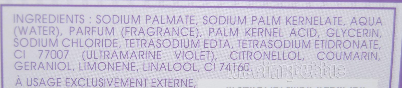 Jeanne provence jabon lavanda ingredientes