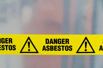 Asbestos danger tape