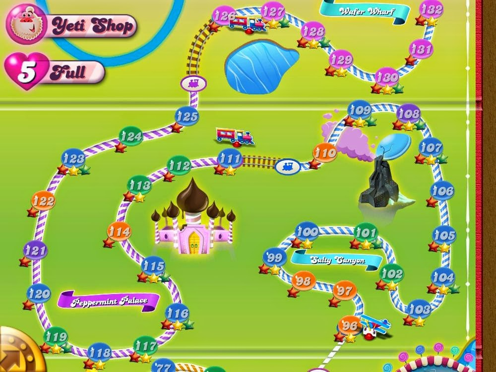 Los diferentes niveles de Candy Crush Saga