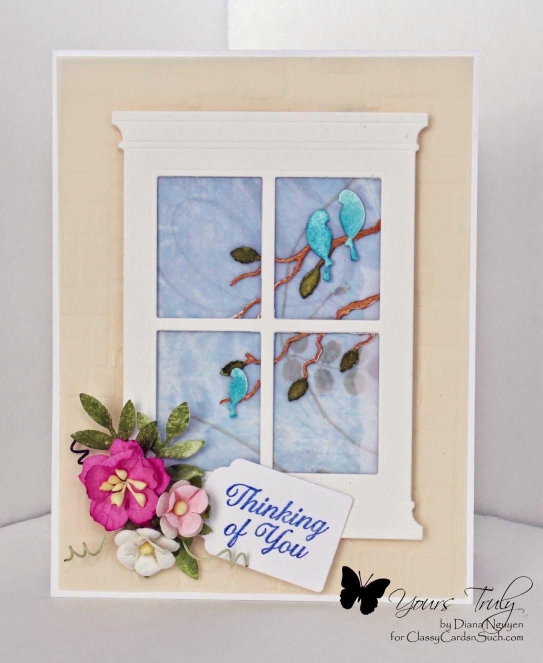 Diana Nguyen, Serenity bird frame, Grand Madison Window