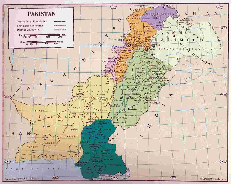 Где находится пакистан карта мира