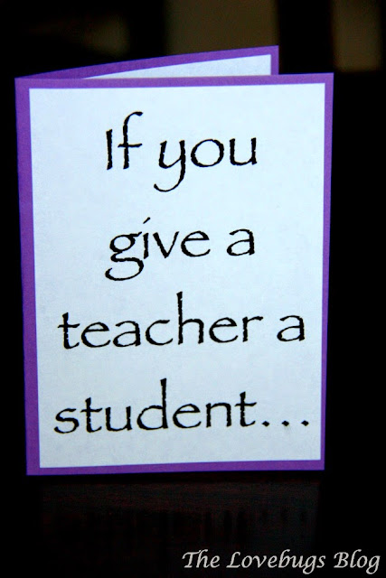 If you give a teacher a student
