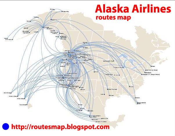 international flights alaska airlines route map