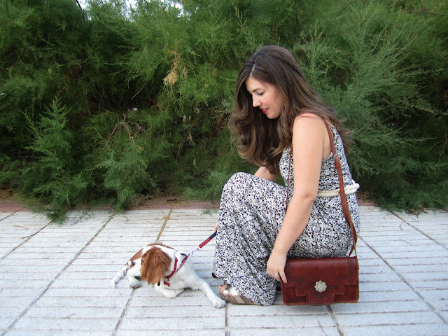 Look Jumpsuit Esencia Trendy Asesora de Imagen Estilista Zara cavalier outfit luxe boho style dogfriendly