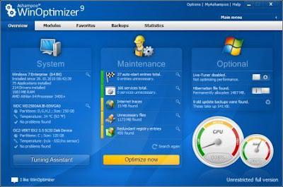 Ashampoo WinOptimizer 9 v9.4.1