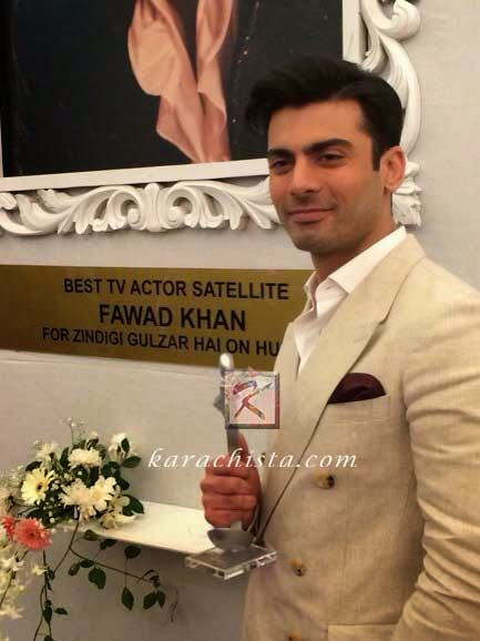 Fawad Khan wins Lux Style Award for Best TV Actor (satellite)