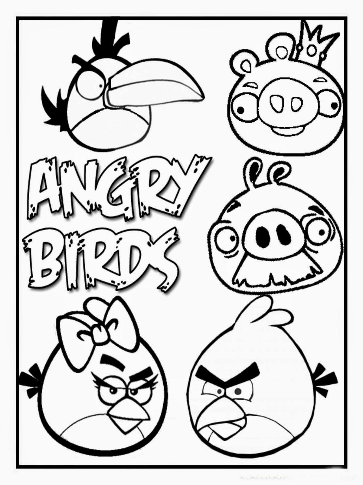 Desenhos Dos Angry Birds Para Colorir Pintar Imprimir E