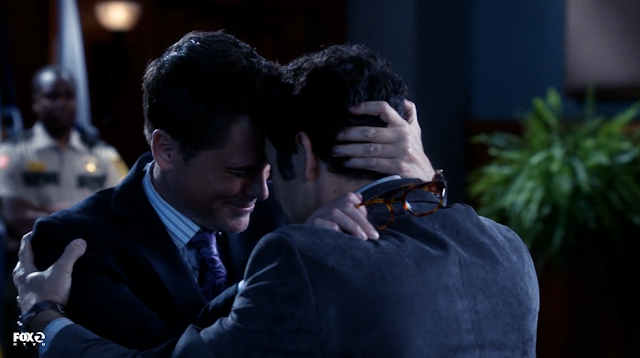 The Grinder's man-hugs are increasingly turning into epic Scooby-Dum handshakes.