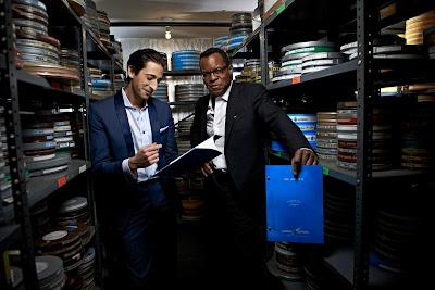 Adrien Brody y Geoffrey, miembros del jurado del concurso de guiones de cortometrajes organizado por Bombay Sapphire. +CINE. Making Of