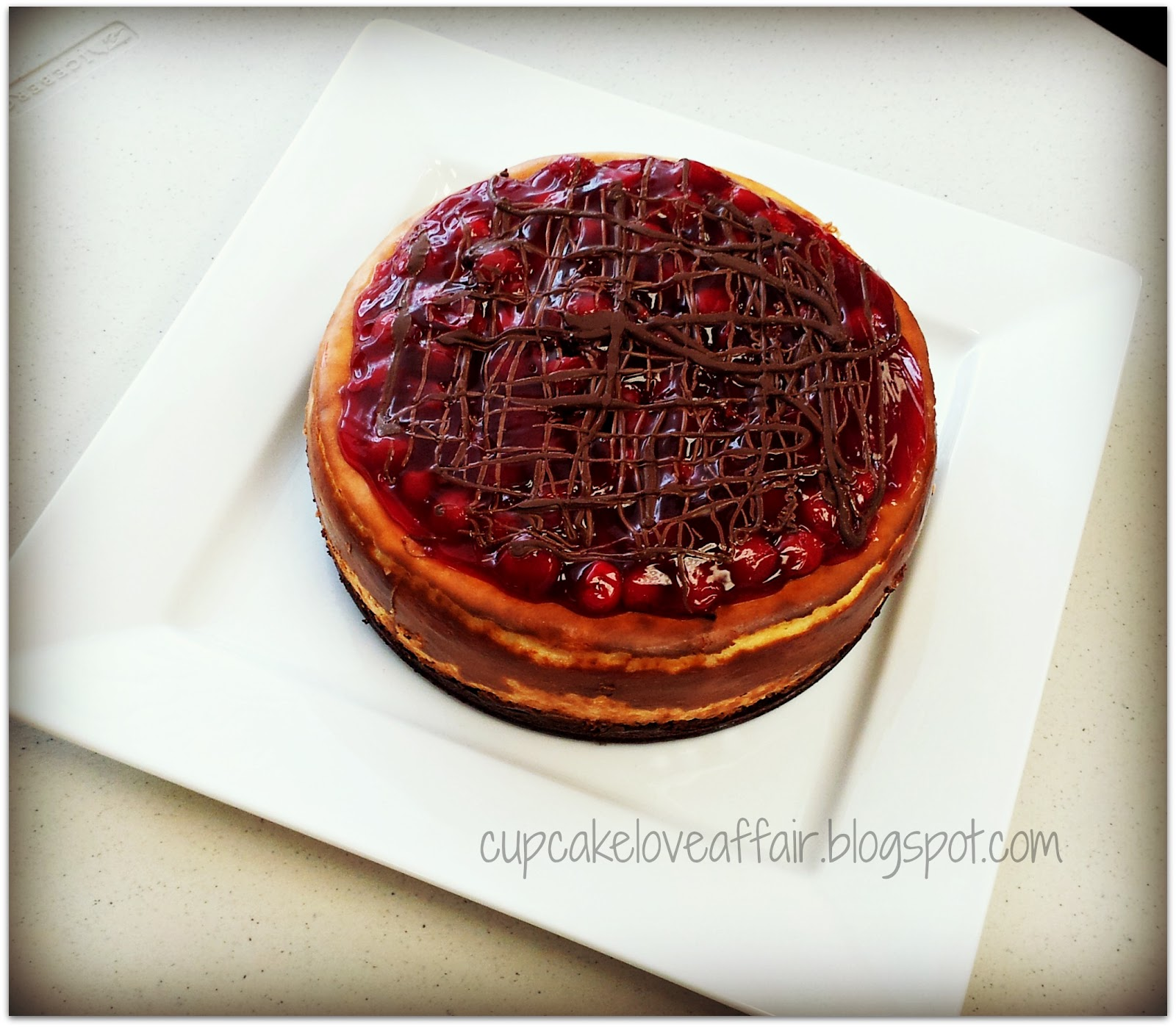 GF Chocolate Cherry Cheesecake
