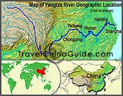 Yangtze River Location Map