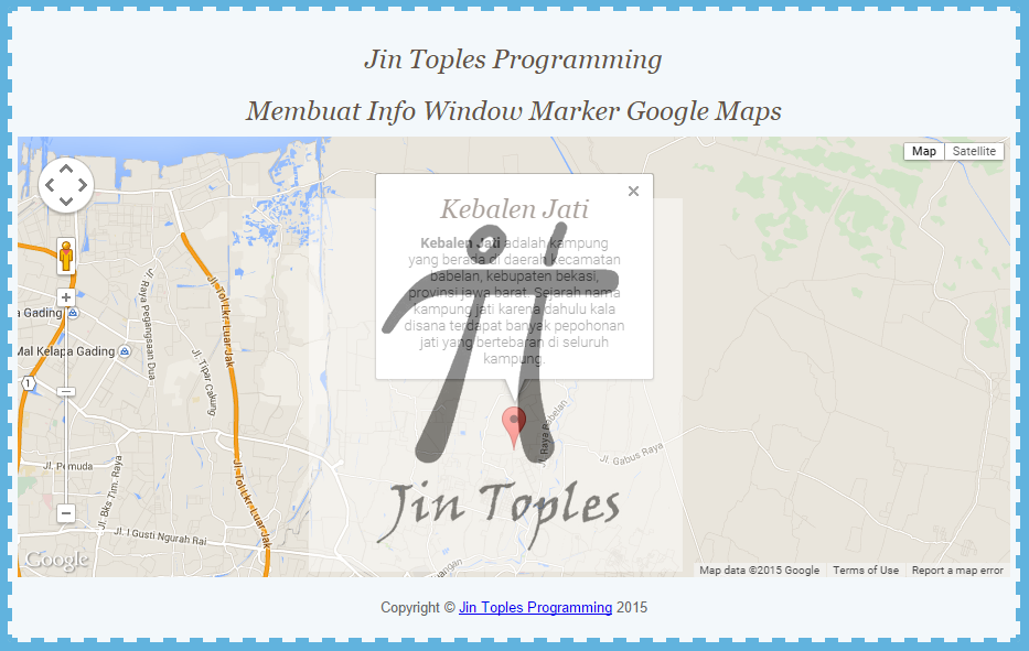 Cara Membuat Info Window Marker Google Maps | Jin Toples Programming