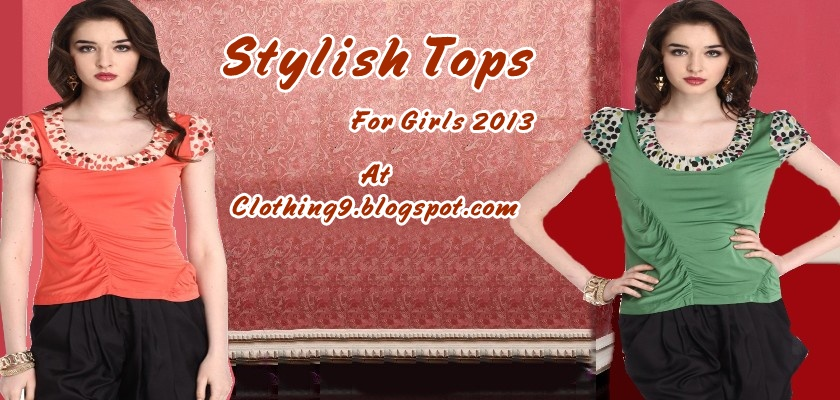 stylish tops collection 2013 for girls latest tops