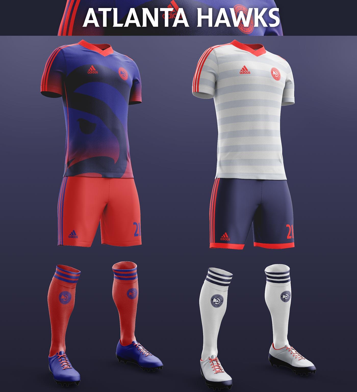 Nba football concept kits revealed footy headlines for Hawks t shirt jersey