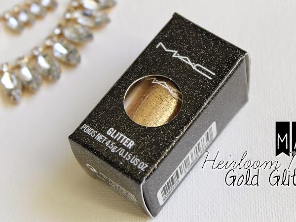MAC Heirloom Mix Gold Glitter.