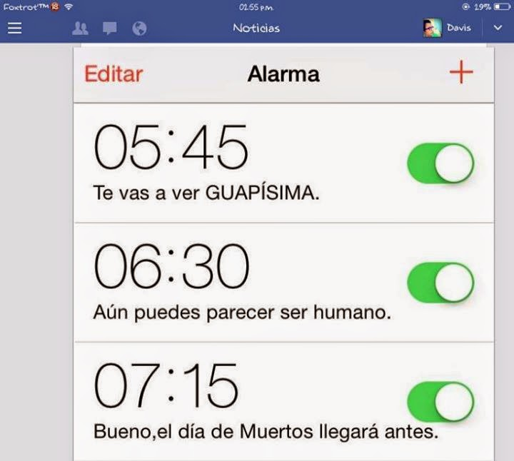 Alarma para las chicas
