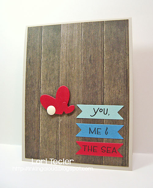 You, Me, and the Sea card-designed by Lori Tecler/Inking Aloud-stamps and dies from Clear and Simple Stamps