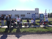 Jornada solidaria en el barrio Lourdes de Olavarría