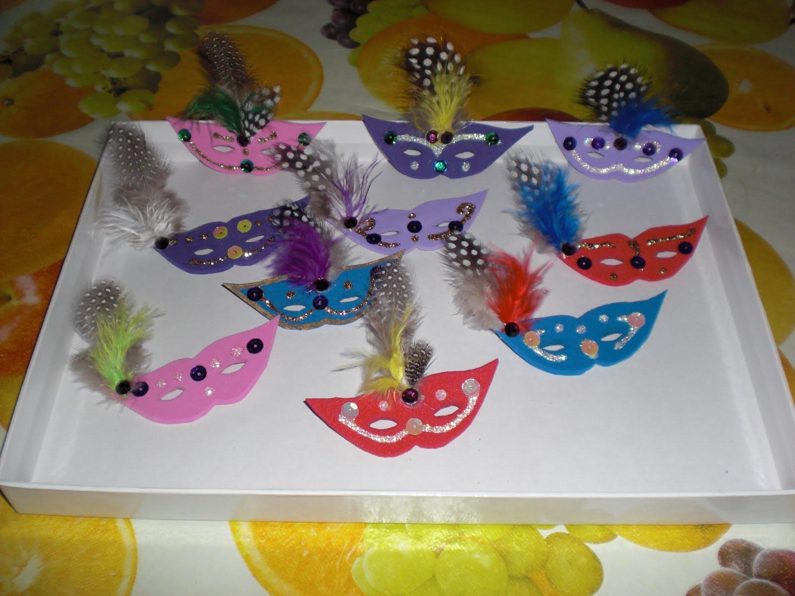Imaginando con eva broches antifaces de goma eva - Broches para manualidades ...